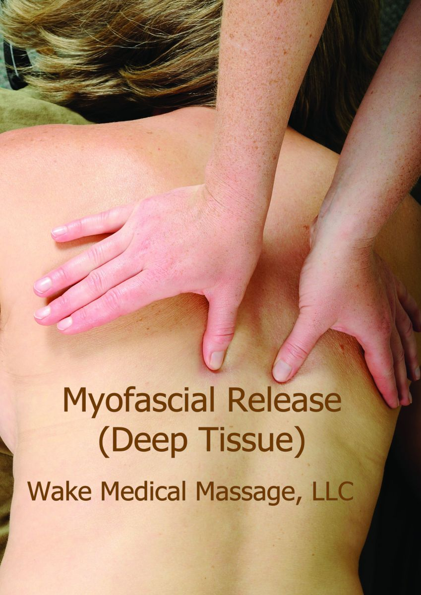 Myofascial releas.  Medical Massage integrated with Deep Tissue for stubborn aches and pain.